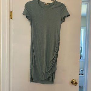 Perfect Fit Ruched Shirt Dress - Seafoam - Small